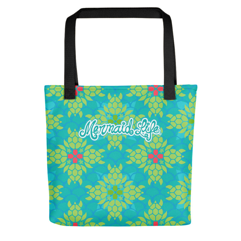 Mermaid Life Sea Turtle Splendor Beach Bag Small