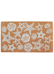 Mermaid Shells Natural Door Mat 30x18Home Womens Apparel Mermaid Life
