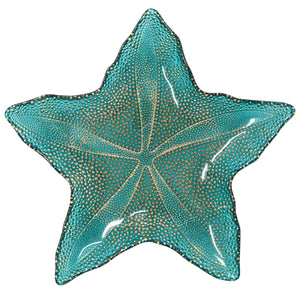 Seaglass Starfish Dish Adriatic BlueHome Womens Apparel Mermaid Life