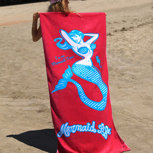 Mermaid Time Beach TowelAccessories Womens Apparel Mermaid Life