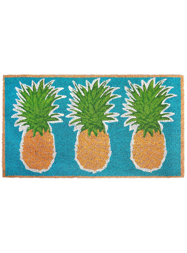 Tropical Pineapples Natural Door Mat 30x18Home Womens Apparel Mermaid Life