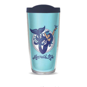 Aquatini Mermaid 16oz Doublewall TumblerDrinkware Womens Apparel Mermaid Life