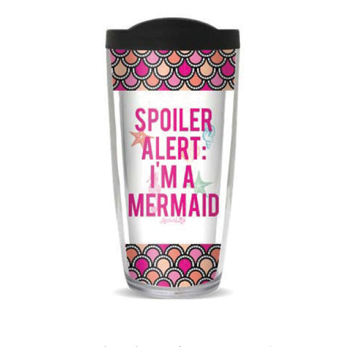Mermaid Spoiler Alert 16oz Reusable TumblerDrinkware Womens Apparel Mermaid Life