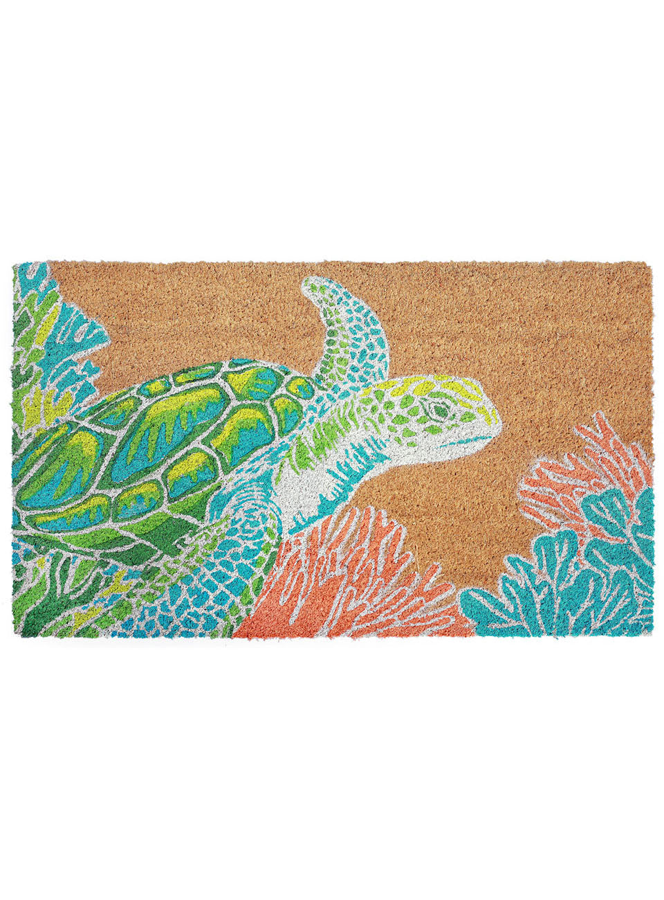 Sea Turtle Splendor Natural Door Mat 30x18Home Womens Apparel Mermaid Life