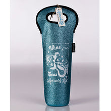 Load image into Gallery viewer, Mermaid Life Sparkle Koolie Wine Bag AquaDrinkware Womens Apparel Mermaid Life