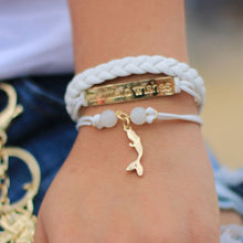 Load image into Gallery viewer, Mermaid Wishes Leather BraceletJewelry Womens Apparel Mermaid Life