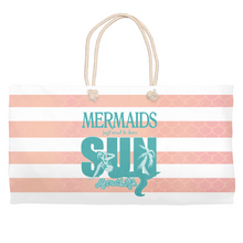 Load image into Gallery viewer, Mermaids Want to Have Sun Beach BagAccessories Womens Apparel Mermaid Life