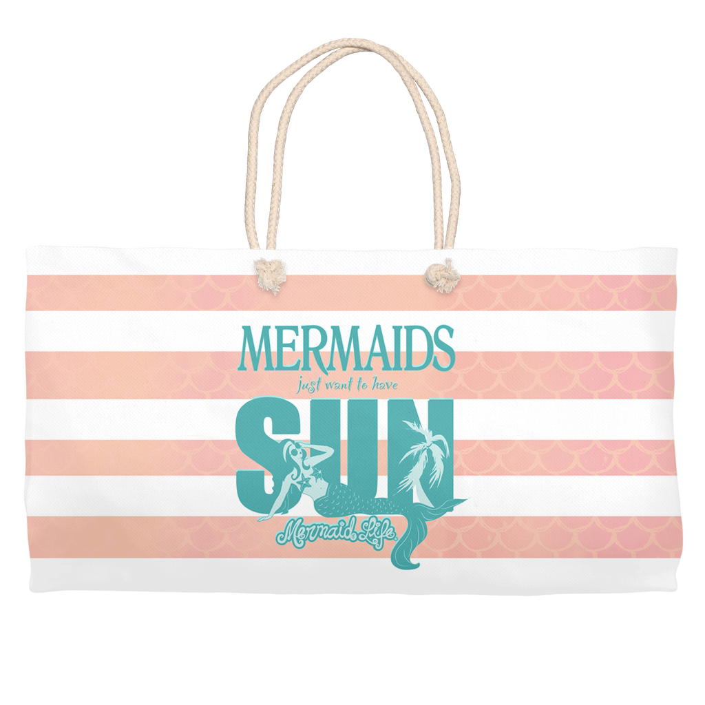 Mermaids Want to Have Sun Beach BagAccessories Womens Apparel Mermaid Life