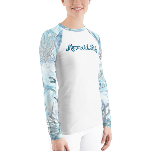 Coral Gray Rash GuardPerformance Womens Apparel Mermaid Life