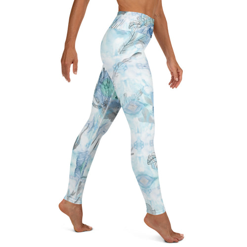 Coral Gray Yoga Leggings Womens Apparel Mermaid Life