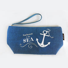 Load image into Gallery viewer, Nautical Beach Clutch Blue SALE - Mermaid Life