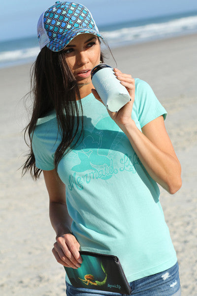 Mermaid Heart Tee Aqua SALEApparel Womens Apparel Mermaid Life