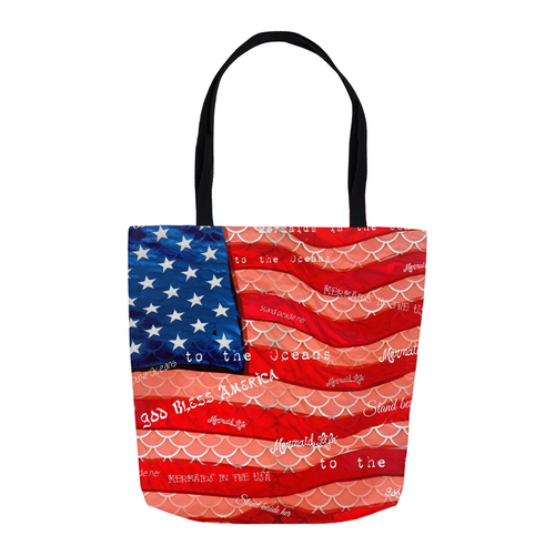 Patriot Scales Tote BagAccessories Womens Apparel Mermaid Life