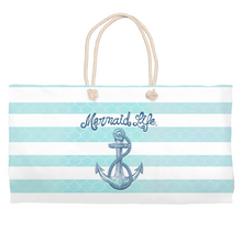 Load image into Gallery viewer, Nautical Mermaid Life Bech Bag Womens Apparel Mermaid Life