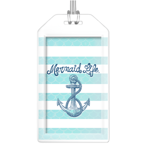 Mermaid Life Anchor Luggage Tags (Set of Two)Accessories Womens Apparel Mermaid Life