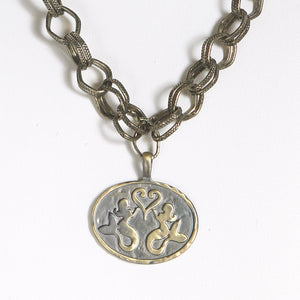 Mermaids at Heart Medallion Necklace - Mermaid Life