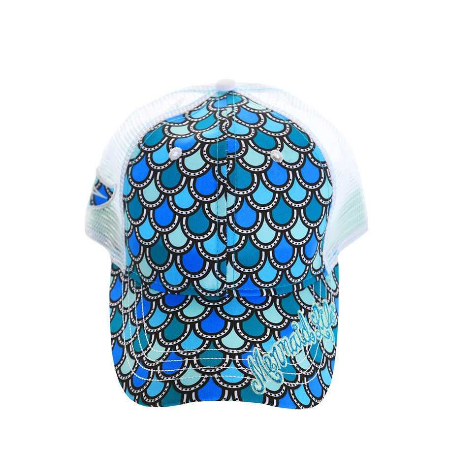 Scales Mermaid Tail Cap AquaHeadwear Womens Apparel Mermaid Life