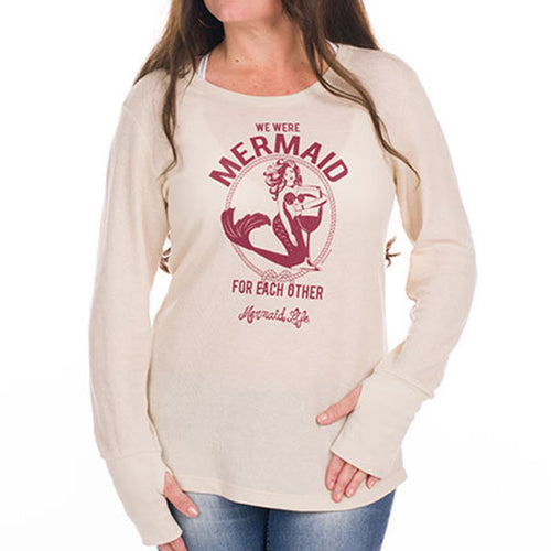 We Were Mermaid for Each Other Long SleeveApparel Womens Apparel Mermaid Life