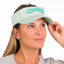 Load image into Gallery viewer, Mermaid Life Visor MintHeadwear Womens Apparel Mermaid Life