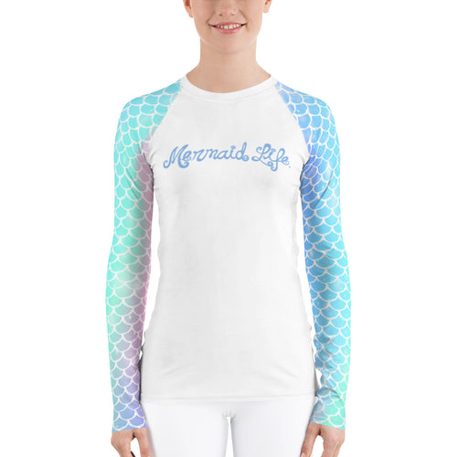 Rainbow Scales Swim Sun ShirtPerformance Womens Apparel Mermaid Life