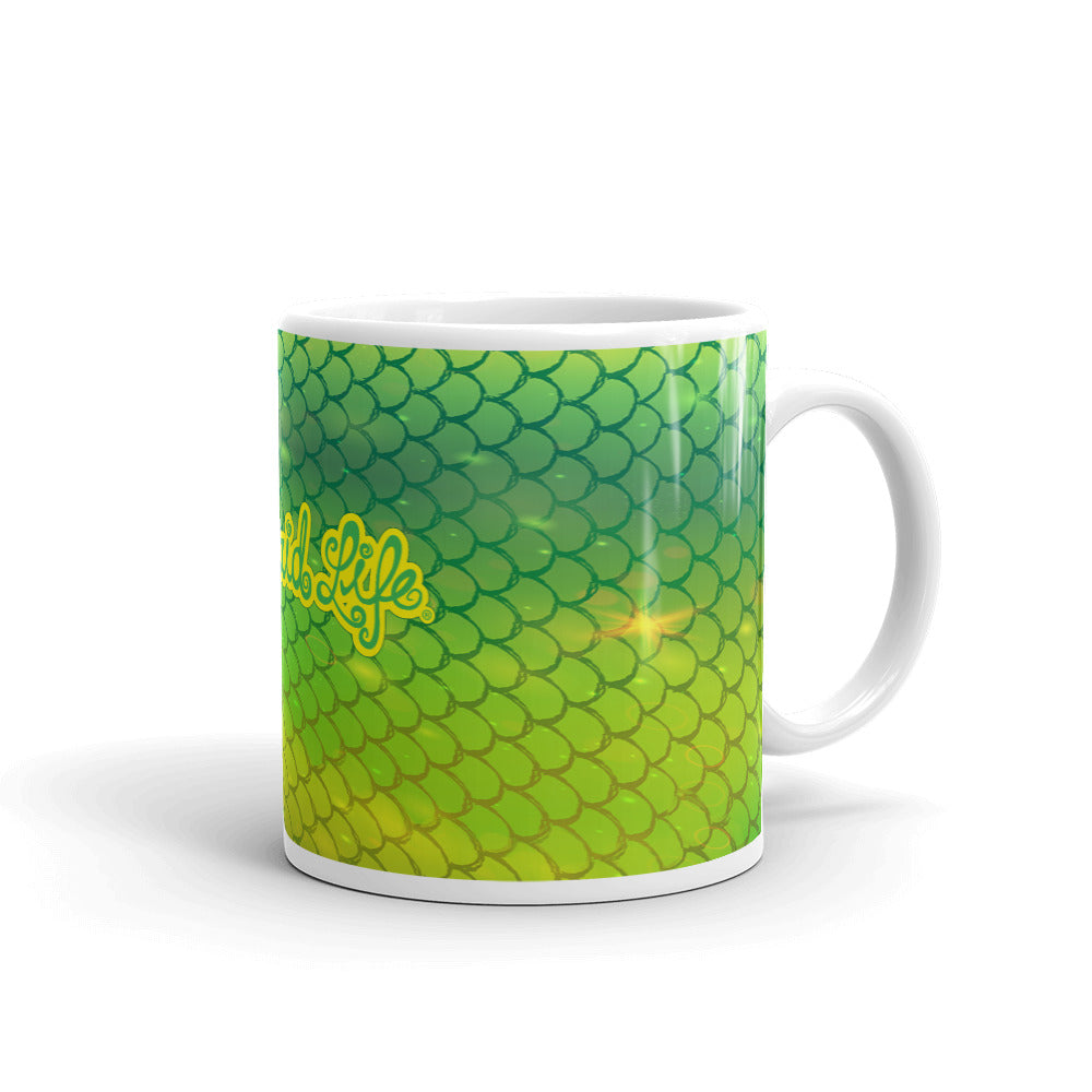Mahi Mermaid Fish Scales MugDrinkware Womens Apparel Mermaid Life