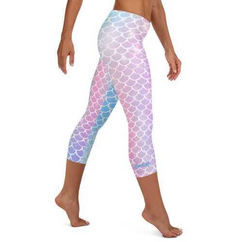 Rainbow Scales Capri Leggings - Mermaid Life