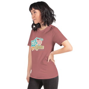 Aloha Vibes with Hibiscus T-ShirtApparel Womens Apparel Mermaid Life