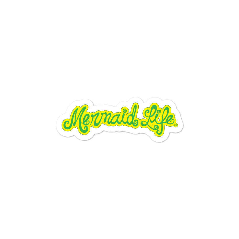 Mahi Green Vinyl Bubble-free stickersDecals Womens Apparel Mermaid Life