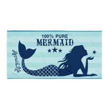 Load image into Gallery viewer, Pure Mermaid Beach TowelBeach Towels Womens Apparel Mermaid Life