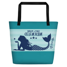 Load image into Gallery viewer, Pure Mermaid Beach Bag LargeBags Womens Apparel Mermaid Life