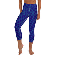Load image into Gallery viewer, Marine Blue Scales Yoga Capri LeggingsPerformance Womens Apparel Mermaid Life