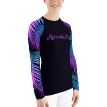 Load image into Gallery viewer, Tropics Swim Sun Shirt BlackPerformance Womens Apparel Mermaid Life
