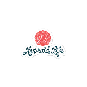 Mermaid Life Scallop Shell Bubble-free stickersDecals Womens Apparel Mermaid Life