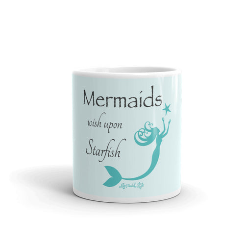 Mermaid Wish Upon Starfish MugDrinkware Womens Apparel Mermaid Life