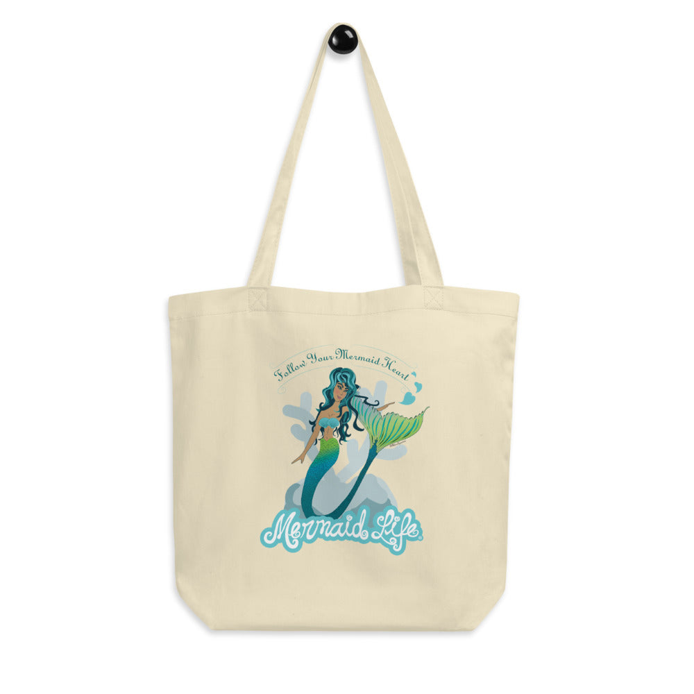 Follow Your Mermaid Heart Tote BagBags Womens Apparel Mermaid Life