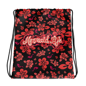 Hibiscus Mermaid SackpackBags Womens Apparel Mermaid Life