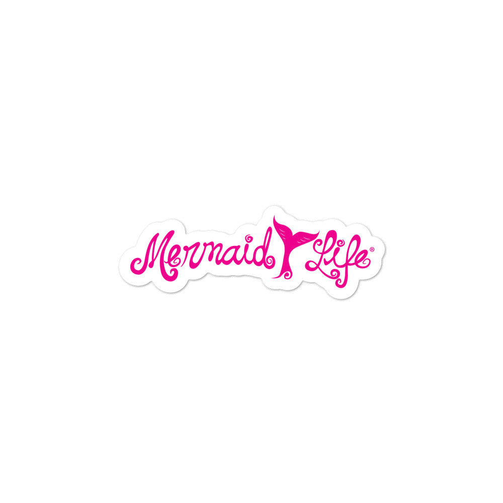 Mermaid Life Tail Vinyl Sticker PinkDecals Womens Apparel Mermaid Life