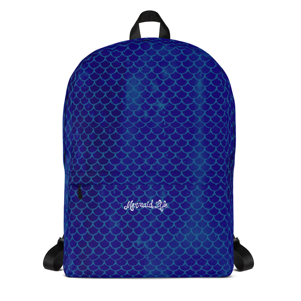 Mermaid Life Navy Scales BackpackBags Womens Apparel Mermaid Life