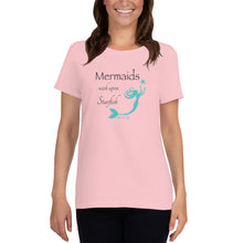 Load image into Gallery viewer, Mermaids Wish Upon Starfish Women's TeeApparel Womens Apparel Mermaid Life