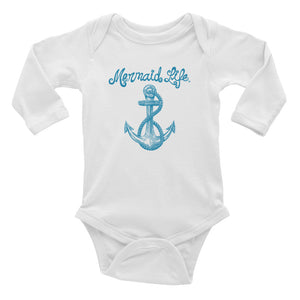 Nautical Infant Long Sleeve OnesieMermaid Life® Girl Womens Apparel Mermaid Life