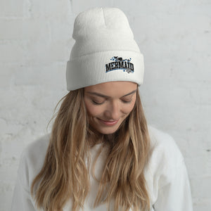 Mermaid Life Winter White BeanieHeadwear Womens Apparel Mermaid Life