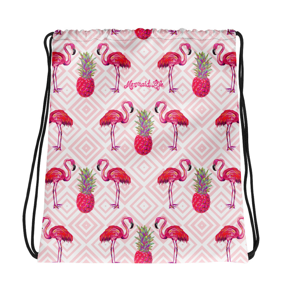 Palm Beach Flamingo SackpackAccessories Womens Apparel Mermaid Life