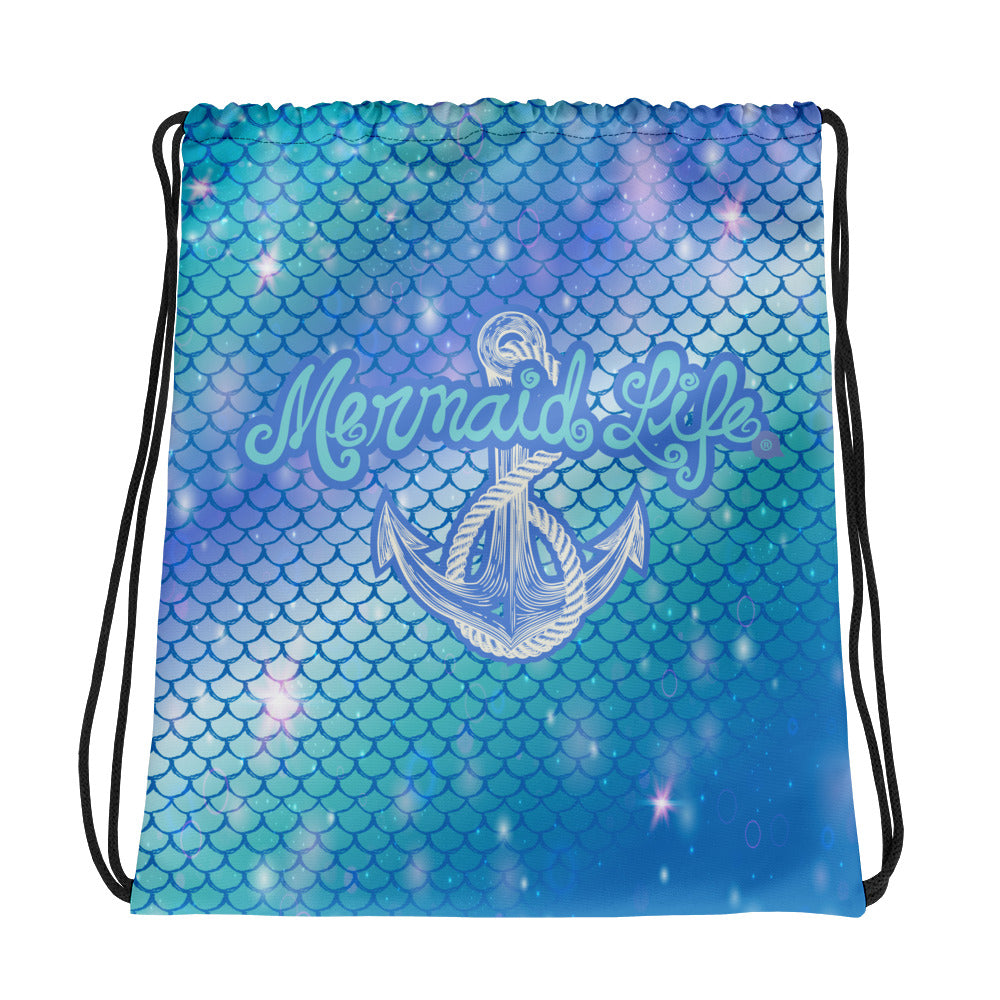 Hypnotic Scales Anchor SackpackBags Womens Apparel Mermaid Life