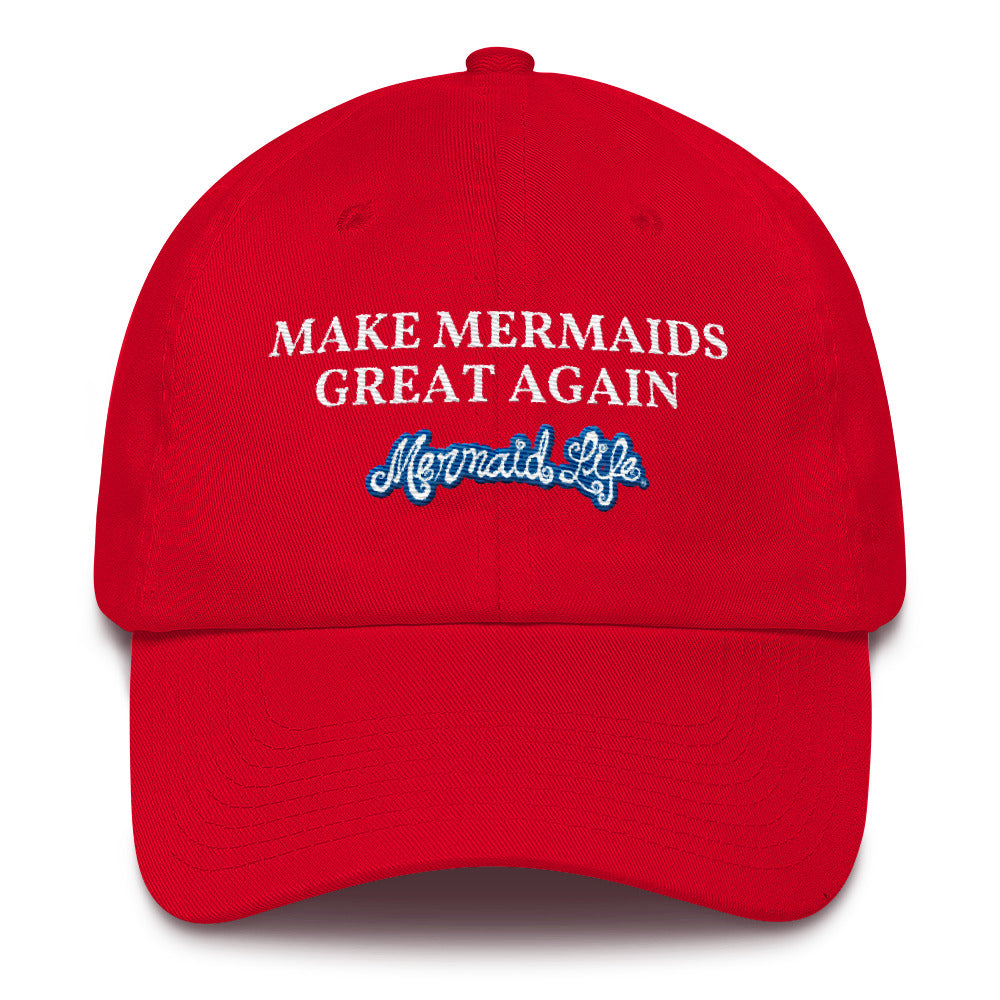 MAKE MERMAIDS GREAT CapHeadwear Womens Apparel Mermaid Life