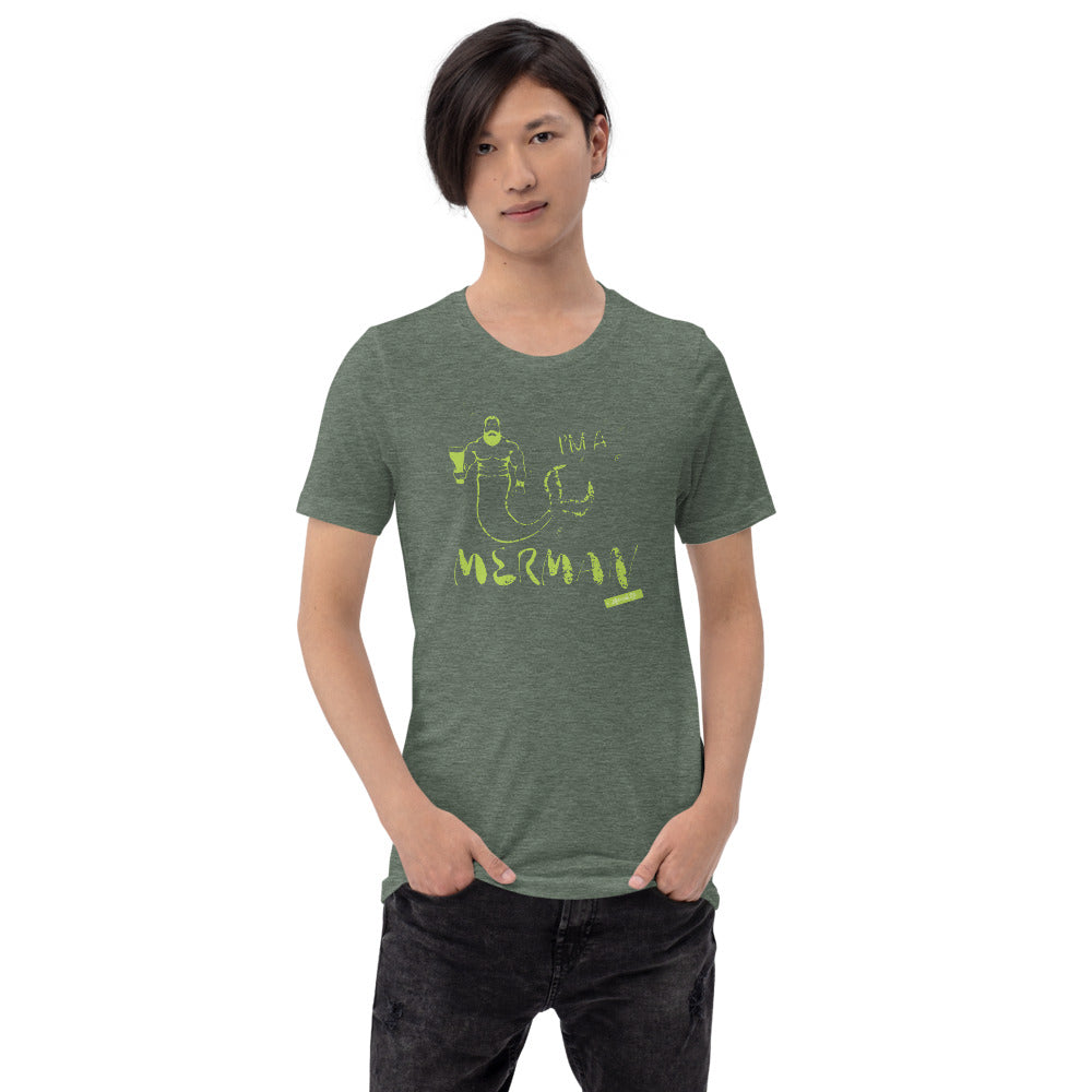 I'm a Merman Mens T-Shirt LimeApparel Womens Apparel Mermaid Life