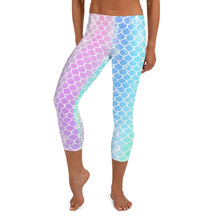 Load image into Gallery viewer, Rainbow Scales Capri LeggingsPerformance Womens Apparel Mermaid Life