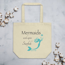 Load image into Gallery viewer, Mermaids Wish Upon Starfish Eco Tote BagBags Womens Apparel Mermaid Life