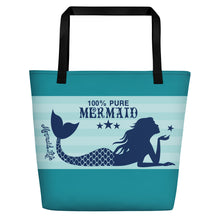 Load image into Gallery viewer, Pure Mermaid Large Beach BagBags Womens Apparel Mermaid Life