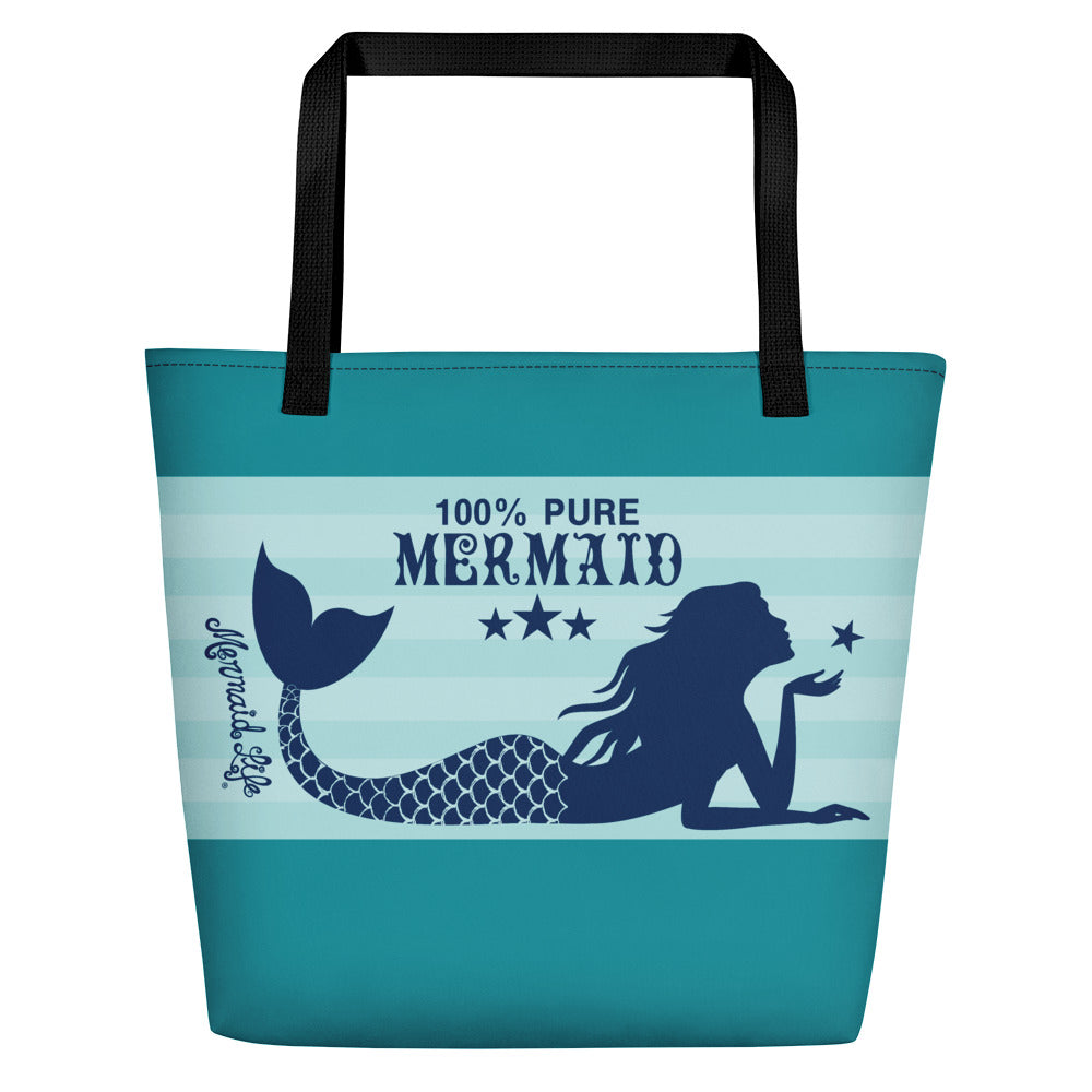 Pure Mermaid Large Beach BagBags Womens Apparel Mermaid Life