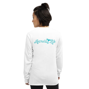 Mermaid Life Long Sleeve Jersey T ShirtApparel Womens Apparel Mermaid Life